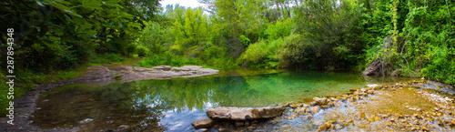 Foto auf Leinwand Wasserfalle Remanso en el Alto Palancia