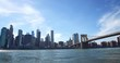 View of the skyline of Manhattan from Brooklyn, New York at daytime.