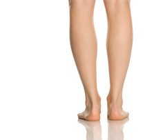 Beautifully Groomed Female Legs On A White Background