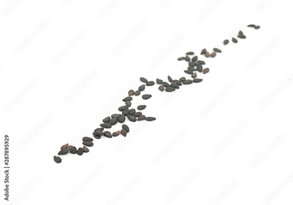 Fototapety, obrazy: Black sesame seeds