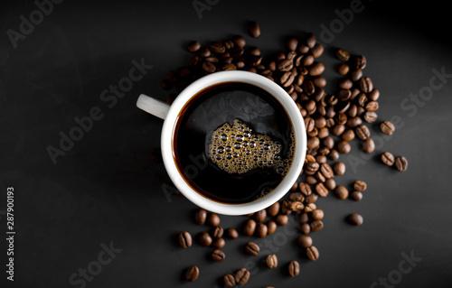 Coffee, black coffee, drip coffee, making coffee in low-light black © artrachen