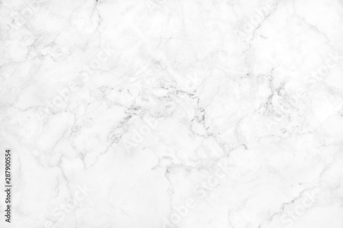 obraz lub plakat White grey marble texture background with high resolution, top view of natural tiles stone floor in luxury seamless glitter pattern for interior and exterior decoration.