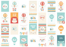 Big Vector Set Of Cute Greetin...