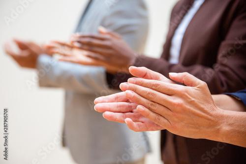 Pinturas sobre lienzo  Hands of business people applauding speaker