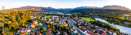 Tableau sur Toile Aerial of old bavarian town Bad Toelz in Bavaria