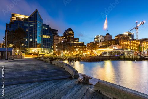 Stampa su Tela The Skyline of Halifax in Canada