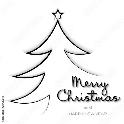 Merry Christmas 2020 Black And White New Year and Merry Christmas typography creative background 2020