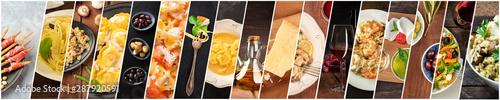 Fotografia Italian Food Collage