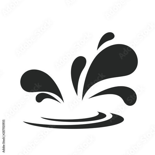 Pinturas sobre lienzo  splash water icon vector design illustration