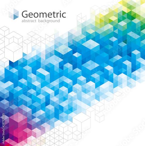 Geometric pattern abstract modern background design. Fototapete