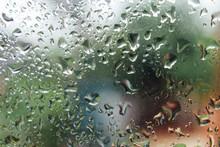 Rain Drops On Window Glasses S...