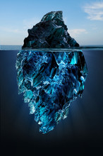 Iceberg Floating In The Ocean,...