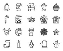Bundle Of Merry Christmas Set Icons