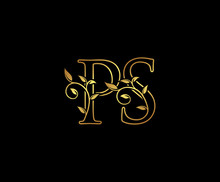 Initial Letter P And S, PS, Gold Logo Icon, Classy Gold Letter Monogram Logo Icon Suitable For Boutique,restaurant, Wedding Service, Hotel Or Business Identity.