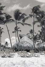 Vintage Sepia Beach
