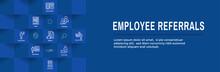 Employee Referrals Icon Set Wi...