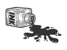 Spilled Bottle Ink Blot Sketch...