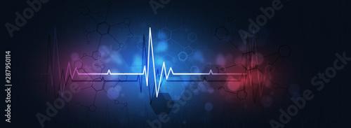 Fotografía  medical heart beat illustration