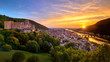 canvas print picture - Spectacular sunset in Heidelberg, Germany
