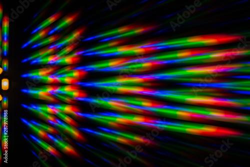 Obraz na plátně Photo of the diffraction pattern of LED array light, comprising a large number o