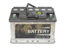 Used Dirty  Car Battery Isolat...