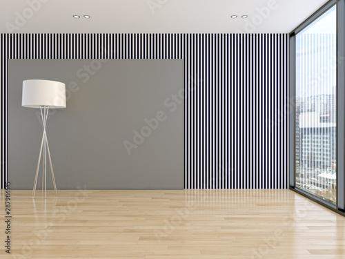 Fototapeta large luxury modern bright interiors room illustration 3D rendering obraz
