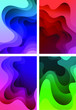 Vector illustration of abstract shapes in layers, gradient. Vector background
