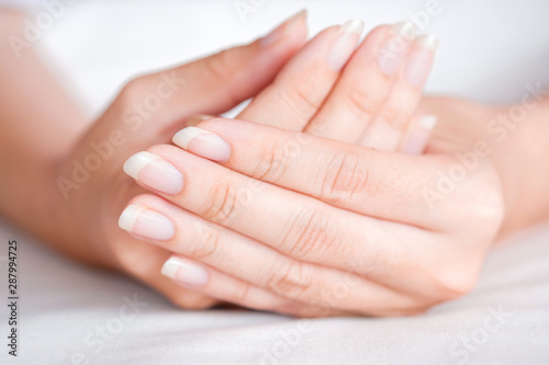 Fotografía  Close-Up fingernail of women, Concept of health care of the fingernail