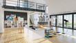 canvas print picture - modern house interior design