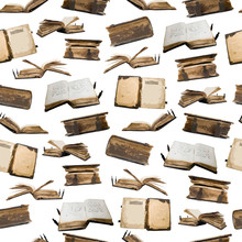 Old Books Collection, Seamless Pattern For Your Design