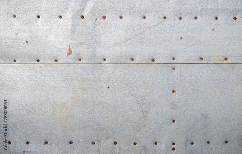 Fotomural  Texture of old galvanized iron sheets