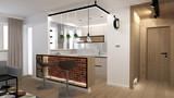 Loft interior in modern flat