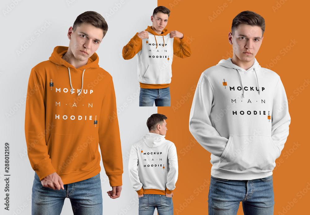 Fototapeta 4 Hooded Sweatshirt Mockups