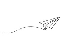Paper Plane Drawing Vector Usi...