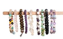 Gem Bracelets In Studio