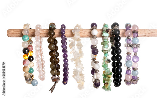 Fotomural  gem bracelets in studio
