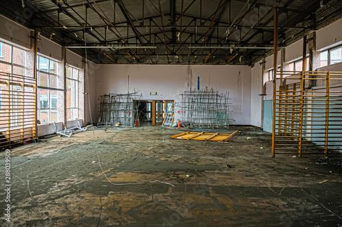 Obraz na plátně  Assembly hall of an abandoned school
