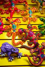 Brightly Colored Ceramic Lizar...
