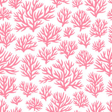 Coral Pattern. Vector Seamless Ornament.