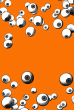 Engraving Eyes Pattern With Blank Space BG
