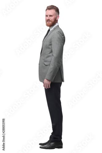 Fototapeta  confident businessman looks forward on the copy space