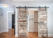 Rustic Wood Sliding Closet Doors
