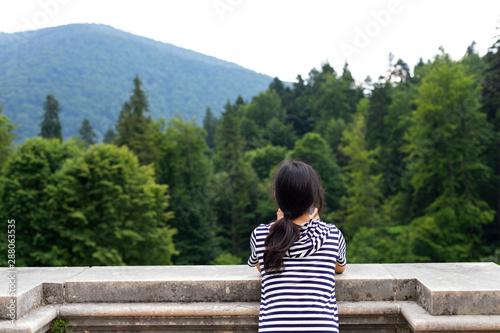 Fotografie, Obraz  Tourist baxck veiw