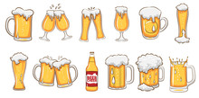 Beer Mug Vector Set Graphic Cl...