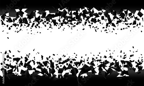 Fototapeta  background explosion with debris