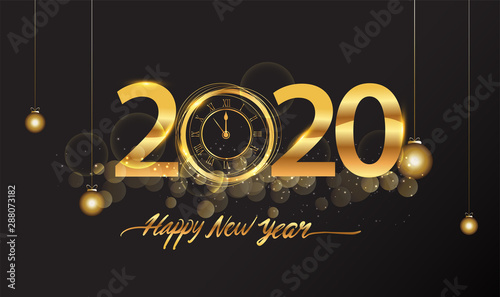 Happy New Year 2020 - New Year Shining background with ...