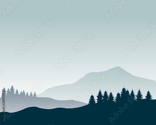 ilustracja-wektorowa-sylwetka-krajobraz-natur