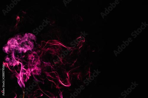 Foto op Canvas Texturen Incense stick smock on dark background