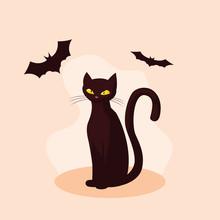 Cat Feline Animal Of Halloween...