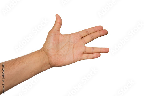 Платно Live long and prosper Vulcan greeting salute famous gesture from fictional character